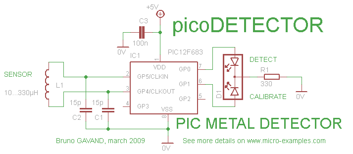 схема метал детектор - Всемирная схемотехника.