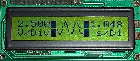LCDscope, not a GLCD but a text LCD oscilloscope 078-LCDSCOPE-lcd16x2scope