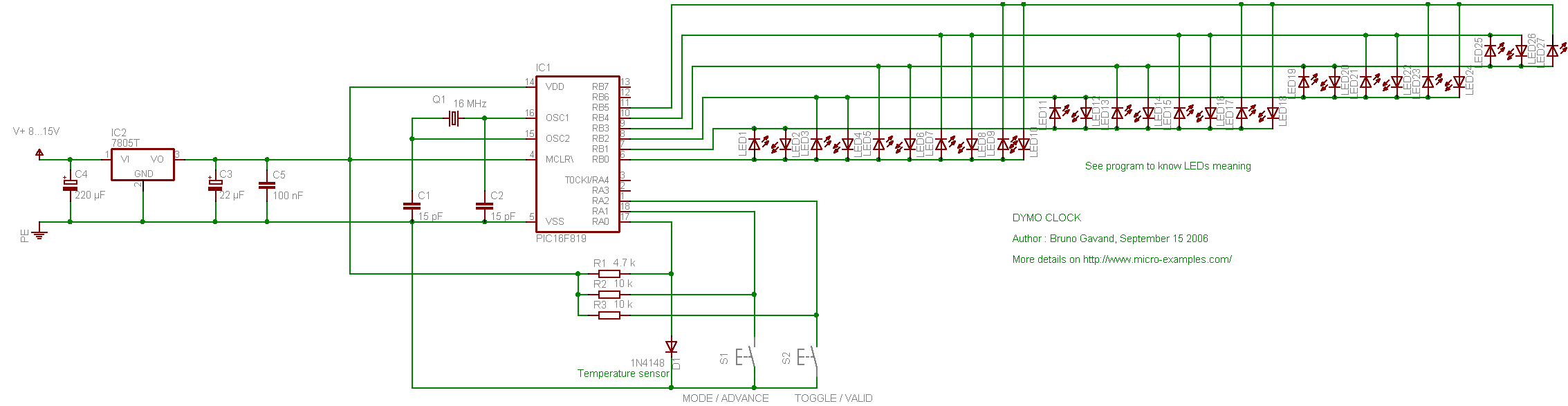DymoClock circuit schematic