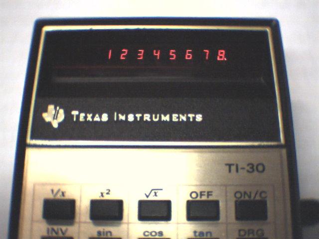 TI30 led display close-up