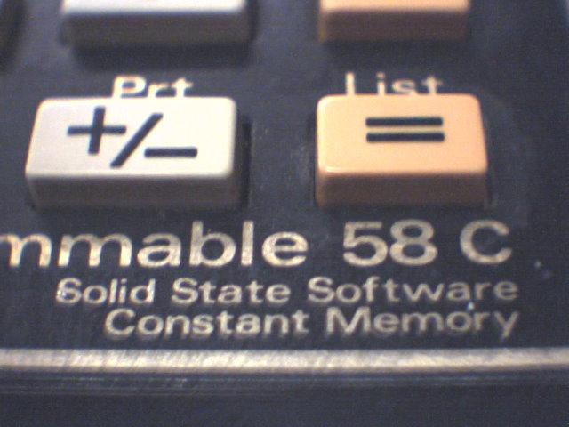 TI58C close-up